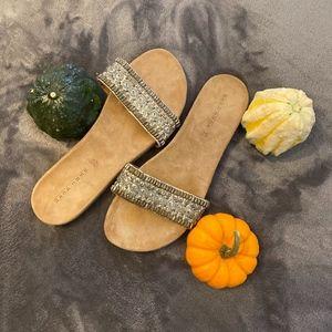NWOT Zara Beaded Sandal